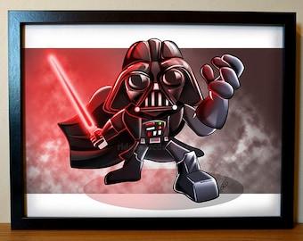Darth Vader Art Print, Star Wars Poster, Darth Vader Poster, Star Wars Fan Art, Star Wars Art, Darth Vader Illustration, Star Wars Art