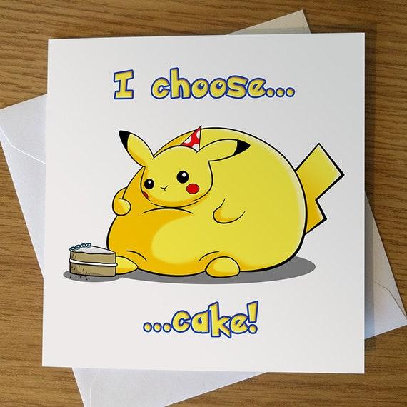 Pikachu Birthday Card Pokemon Birthday Card Pokmon Etsy