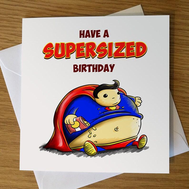 Superman Geburtstagskarte lustige Geburtstagskarte Superman | Etsy
