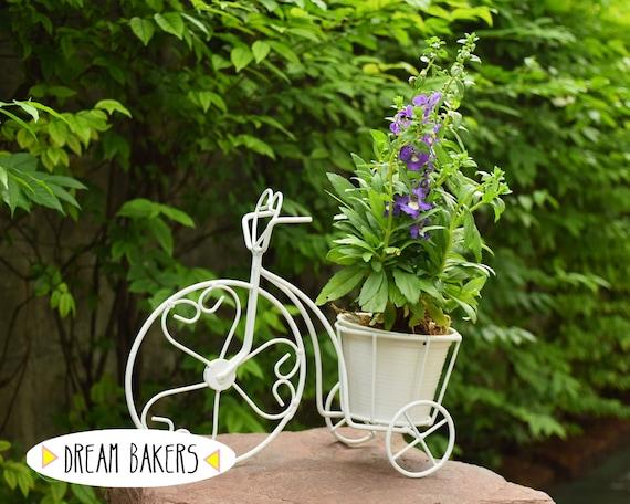 Design de vélo Vintage Tricycle en fer forgé plante Stand planteur ...
