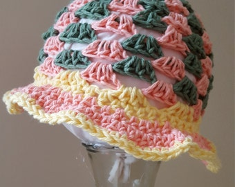Colorful toddler cotton sun hat