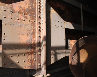 Abstract Photo of Steel Mill