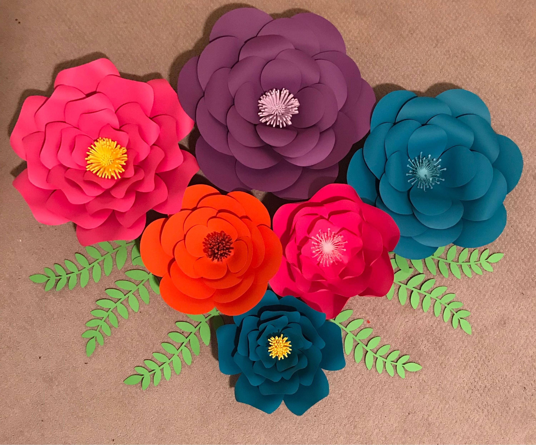 Paper Flowers Flower Backdrop 3d Flowers Wall Flowers Etsy