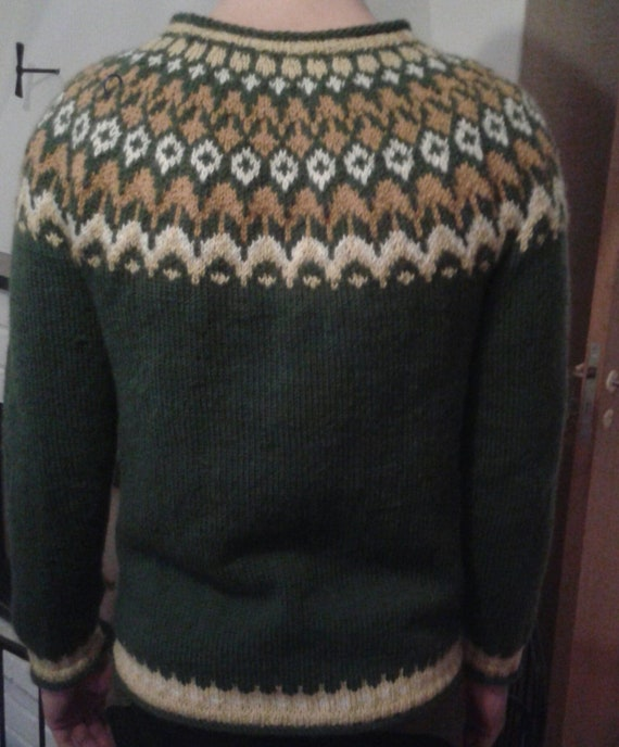 Riddari, Skandinavischnorwegische Pullover, Handarbeit, Wolle, rustikal, echte, traditionelle, Qualität, Dekolleté
