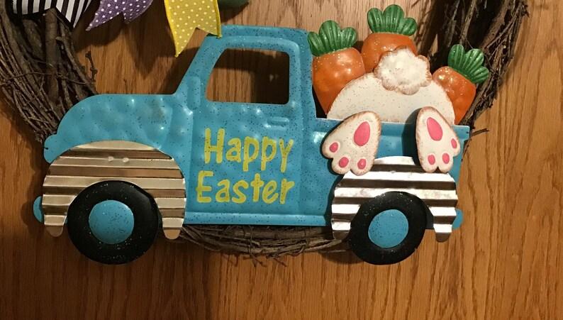 Bunny Wreath Truck Decor Front Door Easter Wreath Easter Wreath Easter Truck Wreath Easter Decor Easter Spring Wreath