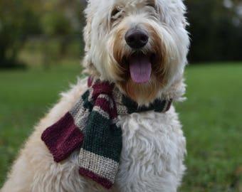 Hand Knit Dog Scarf