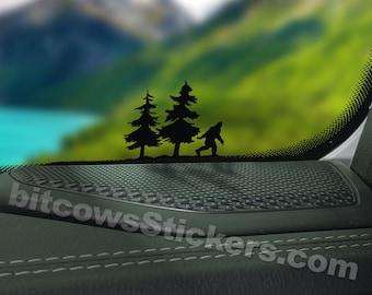 Bigfoot Windshield Decal Casing Car Big Foot Sticker Sasquatch Easter Egg