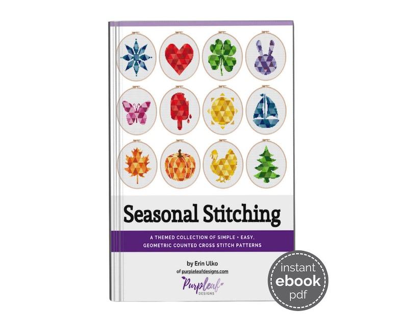 Seasonal Cross Stitch Pattern Book  this ebook has 12 image 1