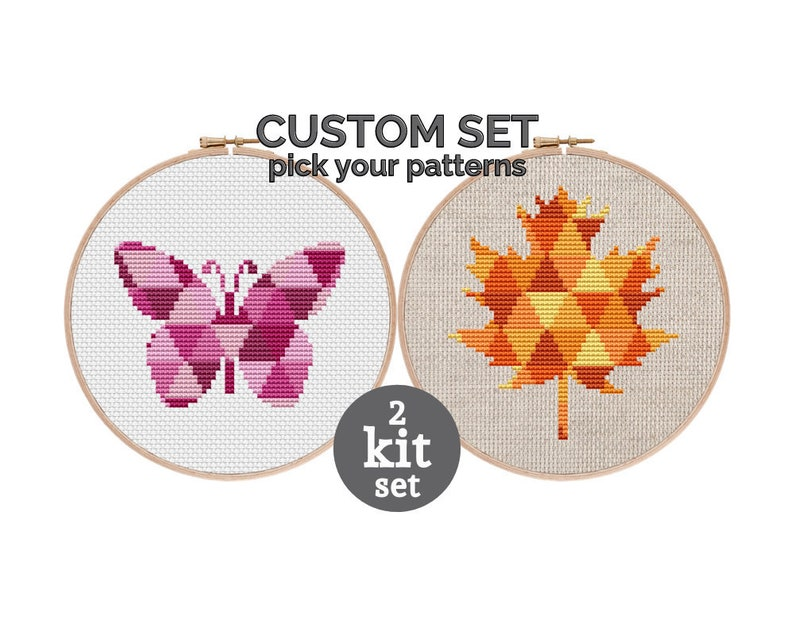Custom Cross Stitch Kit Set  choose from 18 cross stitch image 0
