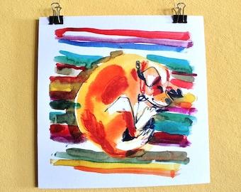 Valentine's Day Gift, Dog Wall Art, Dog Wall Decor, Sketch Print, Digital Print, Pet Poster, Watercolor Sketch, Room Decor, Wall Art Print,