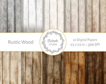 Rustic Wood digital paper - Wood clipart - Scrapbook paper, Wood Digital Paper, Rustic Wood Texture Digital Paper, Commercial use
