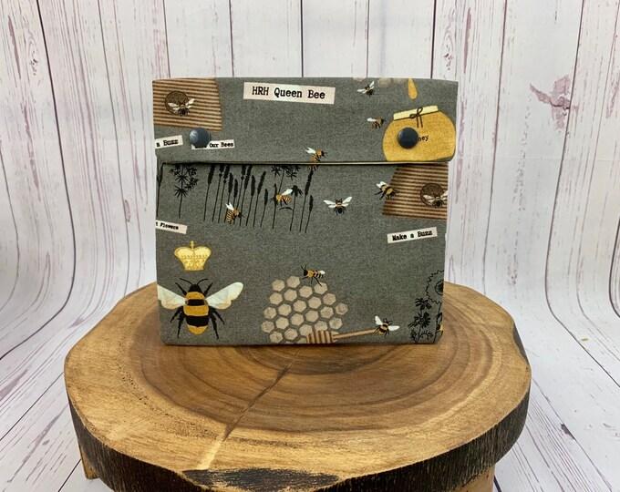 Save the Bees , Circular Knitting Needles Case or Knitting Notions Case, Crochet notions case, Accessories case, Circular Case
