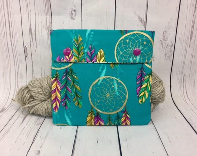 Dreamcatcher ,  Circular Knitting Needles Case or Knitting Notions Case, Crochet notions case, Accessories case, Circular Case