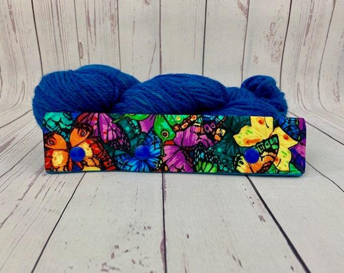 "Jewel Butterfly, Circular Needle Progress Holder,  6-8"" DPN Progress Holder for Knitting"