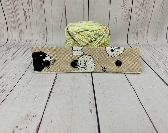 "Sheep, Circular Needle Progress Holder,  6-8"" DPN Progress Holder for Knitting, Needle Holder, Needle cozy"