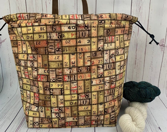 Urban  Cargo Ruler, Shweater bag, XL Project bag, Knitting bag, Crochet project bag,  Project Bag, Sweater knitting bag, Shawl Knittin