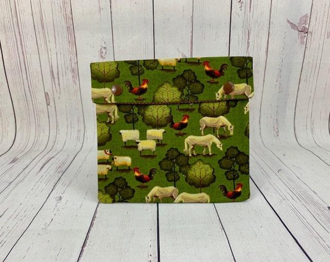 Sheep Folk Farm,  Circular Knitting Needles Case or Knitting Notions Case, Crochet notions case, Accessories case, Circular Case
