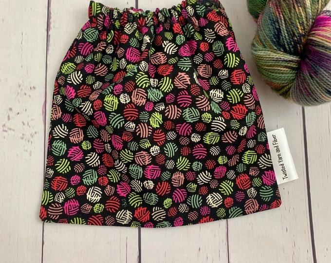 Yarn Balls , Yarn Ball bag, Yarn Bowl, Yarn Holder, Yarn cake Bag, Holds Yarn Mini-Most Bulky