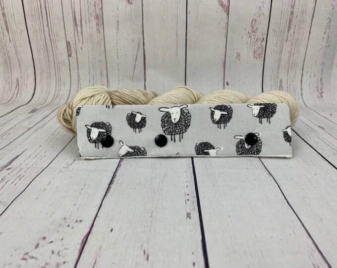 "Gray Sheep, Circular Needle Progress Holder,  6-8"" DPN Progress Holder for Knitting, Needle cozy"