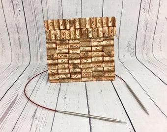 Wine Corks,  Circular Knitting Needles Case or Knitting Notions Case, Crochet notions case, Accessories case, Circular Case