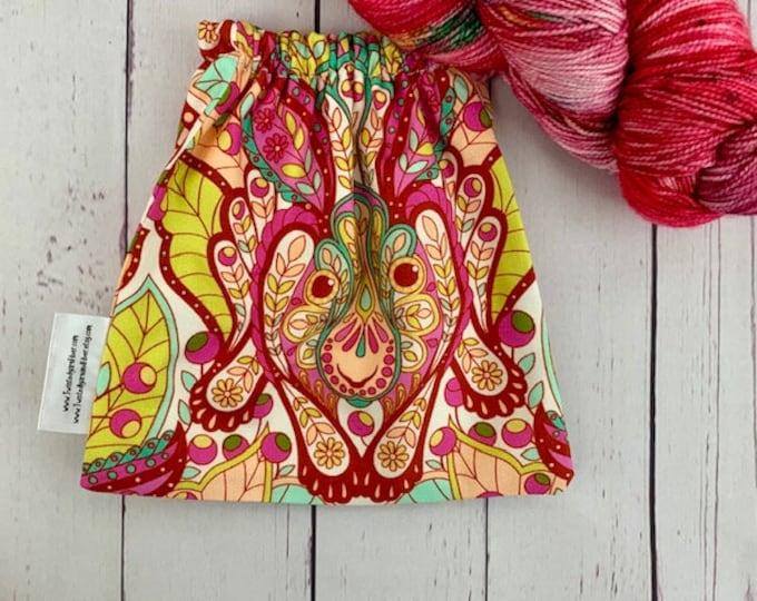 Spirit Rabbit, Yarn Ball bag, Yarn Bowl, Yarn Holder, Yarn cake Bag, Holds Yarn Mini-Most Bulky