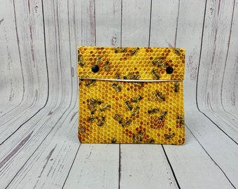 Honey Bees, Circular Knitting Needles Case or Knitting Notions Case, Crochet notions case, Accessories case, Circular Case