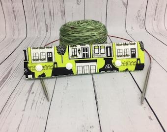 """Our Town, Circular Needle Progress Holder,  6-8"""" DPN Progress Holder for Knitting"""