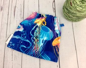 Jellyfish, Jelly fish, Yarn Ball bag, Yarn Bowl, Yarn Holder, Yarn Cozy