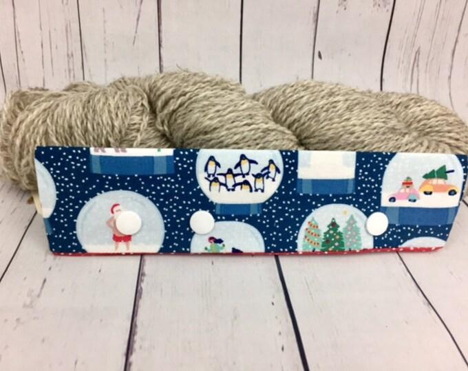 """Snow Globes, Circular Needle Progress Holder,  6-8"""" DPN Progress Holder for Knitting"""