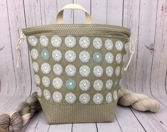 Sheep , Knitting project bag, Crochet project bag,  Project Bag, Yarn bowl, Large Project bag, Shawl knitting