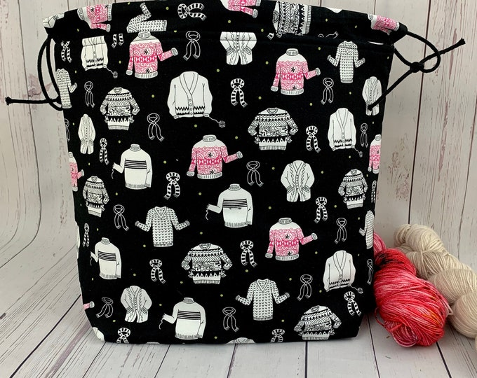 Sweater Knitting , Shweater bag, XL Project bag, Knitting bag, Crochet project bag,Project Bag,Sweater knitting bag, Shawl Knitting bag