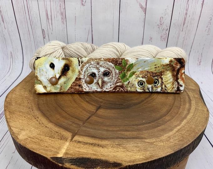 "Woodland Owls,Circular Needle Progress Holder,  6-8"" DPN Progress Holder for Knitting, Needle cozy"