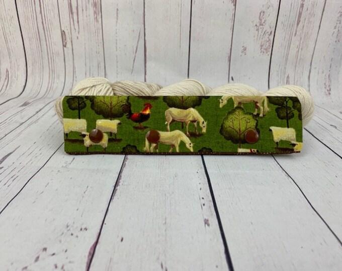 "Sheep Folk Farm, Circular Needle Progress Holder,  6-8"" DPN Progress Holder for Knitting"