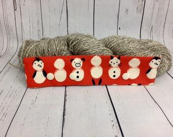 "Snow Pals / Animals/ Snowman, Circular Needle Progress Holder,  6-8"" DPN Progress Holder for Knitting"
