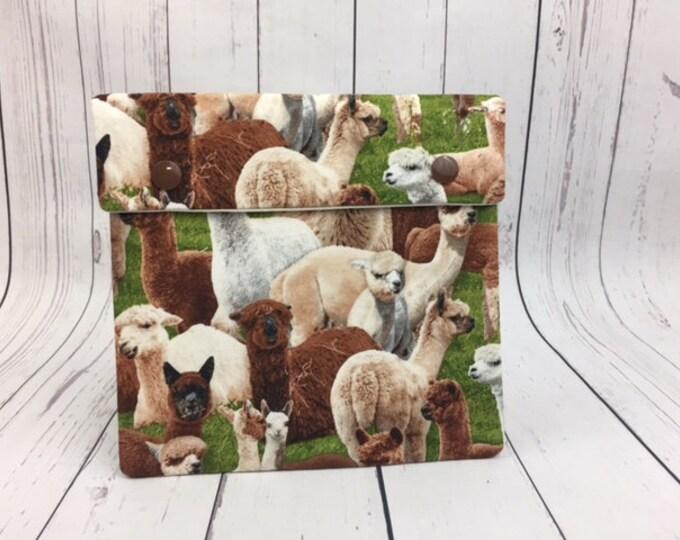 Alpaca Circular Knitting Needles Case or Knitting Notions Case, Crochet notions case, Accessories case, Circular Case