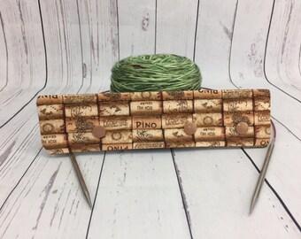 """Wine Corks , Circular Needle Holder,  6-8"""" DPN Holder for Knitting, DPN needle holder"""