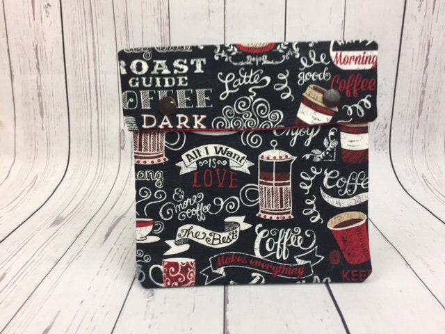 Coffee Lover Circular Knitting Needle Case Or Notions Case For