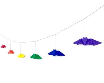 Bat Origami Garland [rainbow]