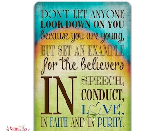 youth room 1 Timothy 4:12 Let no one look down on you because you are young teen arrow church 1TIM4V12-0008