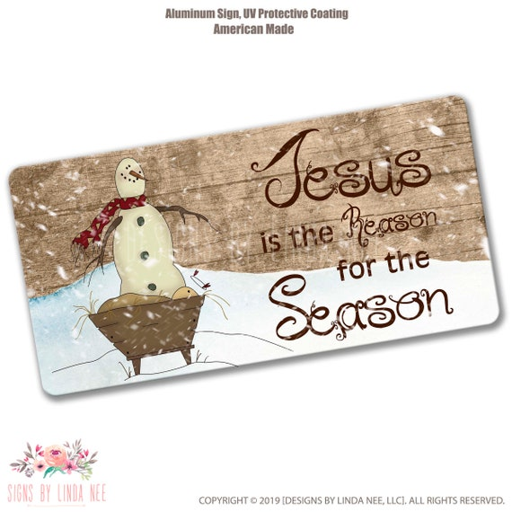 Remember the Reason for the season Sign 7x 9 wreath sign Jesus is the reason for the season