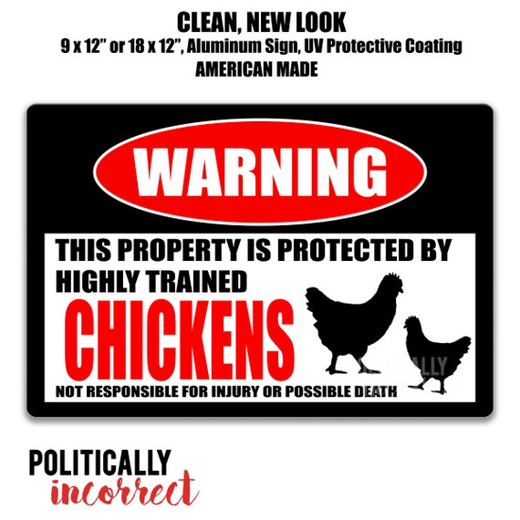 Warning Don't Make The Chickens Angry Farmhouse Sign Funny Farm Sign