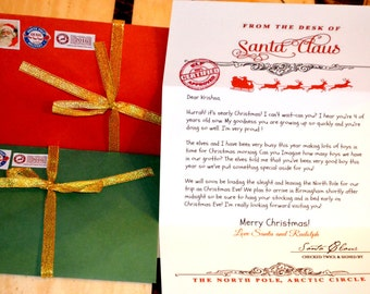 Personalised Letter from Santa Direct From North Pole.
