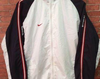 MEGA SALE !! Nike Windbreaker Jacket Full Zipper Rare Design Small Size Nice Colour