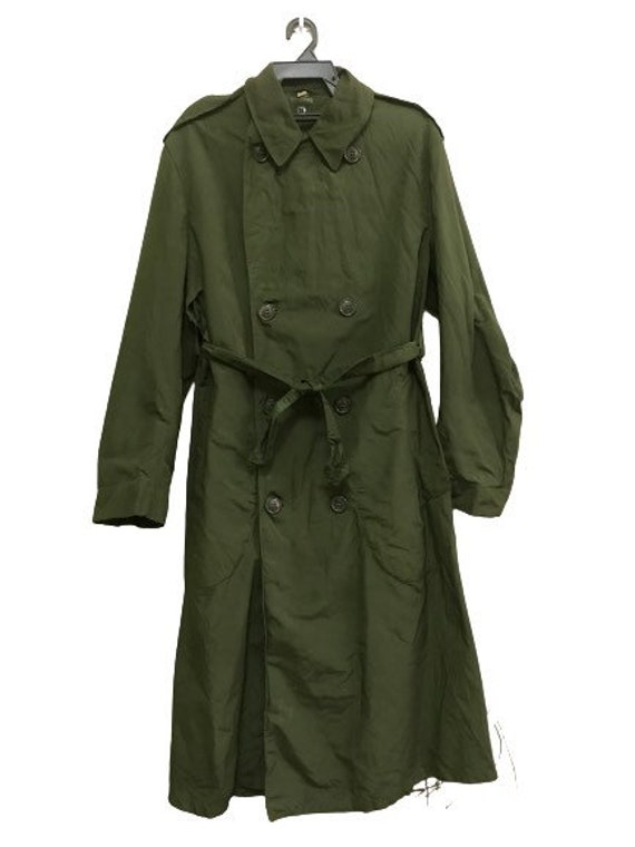 MEGA SALE !! Vintage 50s Raincoat M-1950 Usmc Us A