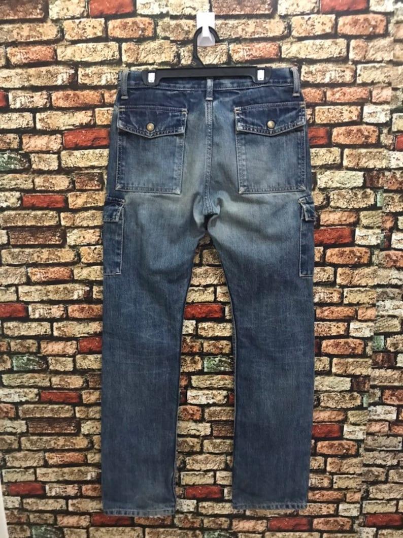 Blue Blue Denim Blue Jeans Japanese Brand Side Pocket Made in Japan Designer Brand MEGA SALE !