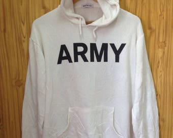 MEGA SALE !! Army Sweater Hoodies 00 Camouflage On Back White Colour Medium Size