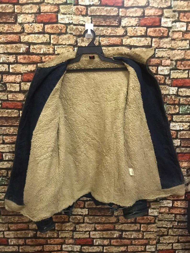RIOTMACHINE Childplot Denim Jacket Sherpa Lining Japanese Designer Distressed Design MEGA SALE !