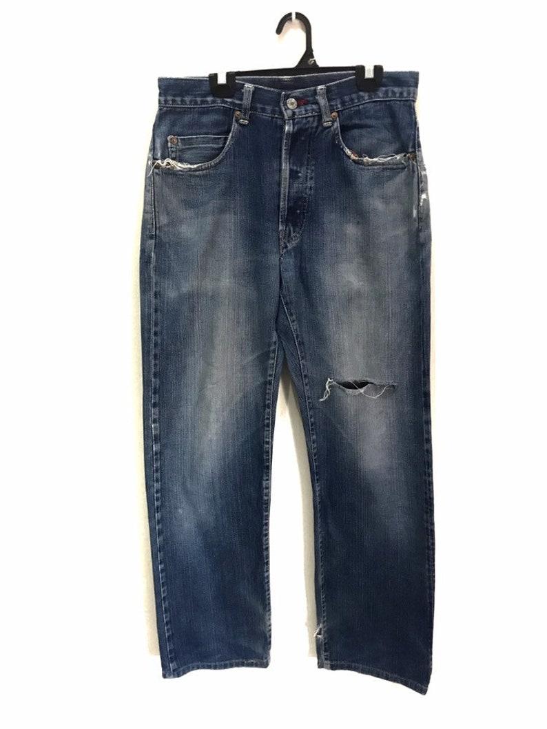 MEGA SALE ! H.R Market Denim Jeans Selvedge Distressed Design Japanese Brand