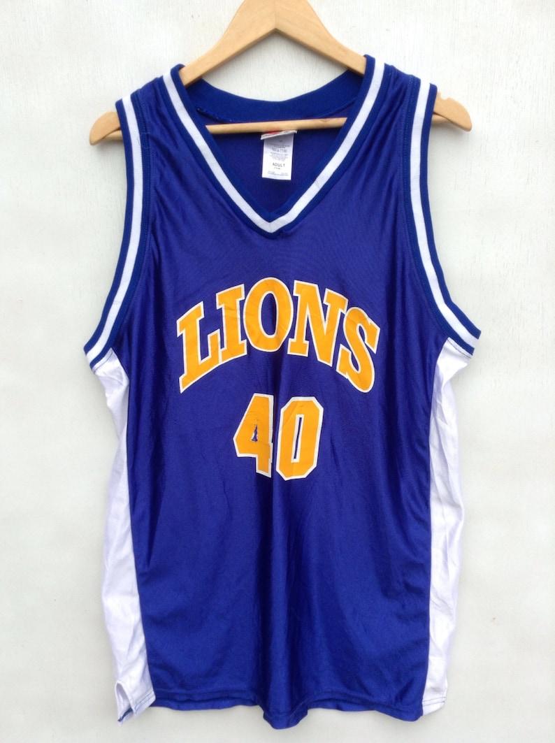 buy popular f4e29 73818 MEGA SALE !! Vintage Nba Jersey Lions 40 Adult Large Size