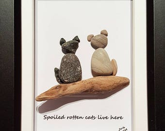 Spoiled Rotten Cats - Pebble Art